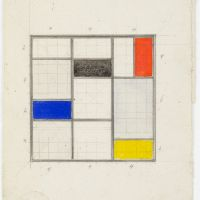 Theo van Doesburg. Design for a roof light in the library, Meudon-Val-Fleury, 1930. Collection Het Nieuwe Instituut, DOES AB5087. Donation Van Moorsel.